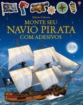 Livro - Monte seu navio pirata com adesivos -