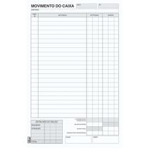 Livro Movimento Caixa Pequeno 100 Folhas Pct. C/ 10 Tilibra -