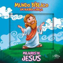 Livro - Mundo bíblico em quebra-cabeça: milagres de Jesus -