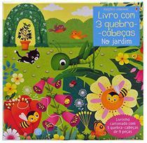 Livro - NO JARDIM: LIVRO COM 3 QUEBRA-CABEÇAS -