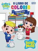 Livro - O livro de colorir Luccas e Gi nas férias -