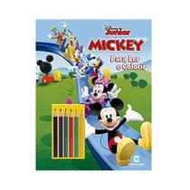Livro para Colorir e Ler - Disney - Mickey Mouse com Lápis - Culturama -