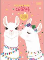 Livro Para Colorir Lhama Hello! Tilibra -