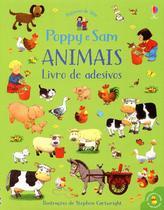 Livro - Poppy e sam animais: Livro de adesivos -
