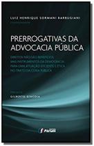 Livro - Prerrogativas da advocacia pública -