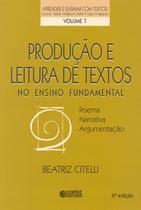 Livro - Produção e leitura de textos no ensino fundamental -