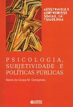 Livro - Psicologia, subjetividade e políticas públicas -