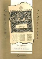 Livro - Qohelet/O-Que-Sabe: Eclesiastes -