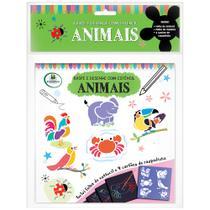 Livro - Raspe e Desenhe com Estêncil: Animais -