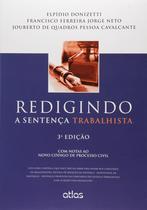 Livro - Redigindo A Sentença Trabalhista -