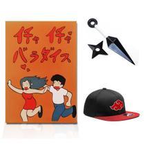 Livro Secreto Jardim dos Amassos Boné Akatsuki Kunai Naruto - Minha Loja Geek