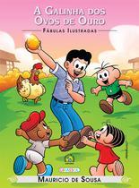 Livro - Turma da Mônica - fábulas ilustradas - a galinha dos ovos de ouro -