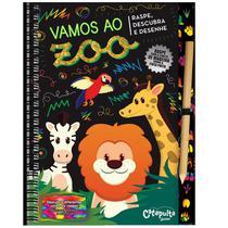 Livro - Vamos ao zoo - raspe, descubra e desenhe -