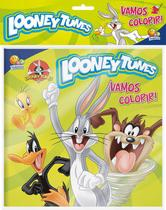 Livro - Vamos colorir! Kit livro+lápis de cor: Looney Tunes -