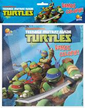 Livro - Vamos colorir! Kit livro+lápis de cor: Ninja Turtles -
