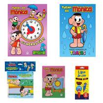 Livros infantis turma da mônica lápis de cor ler colorir 5un - Ciranda Cultural