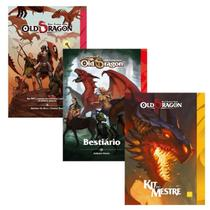 Livros RPG Old Dragon Livro Básico + Bestiário + Kit do Mestre - Redbox
