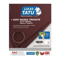 Lixa de Massa Parede Madeira Trionite 100 Grãos 50 Folhas - Lixas Tatu