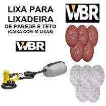 Lixa Para Lixadeira De Parede Girafa 8 Furos 180mm Cx 10 Peças - WBR wagner -
