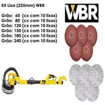 Lixa Para Lixadeira De Parede Girafa 8 Furos 225mm Cx 60 Peças WBR Wagner -