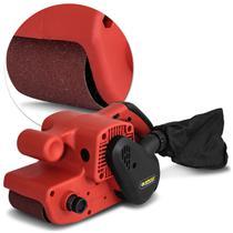 Lixadeira de Cinta Elétrica Schulz LC900 900W 127V ou 220V Vermelho -