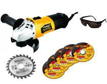 Lixadeira Esmerilhadeira Turbo Angular 710w 110v + Kits - Titanium