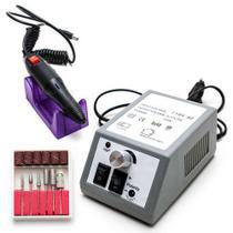 Lixadeira Lixa Motor De Unha Elétrica Profissional Gel Fibra -