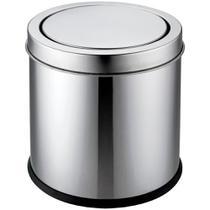Lixeira Basculante Inox Brilho 3L - A/CASA - A\CASA