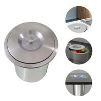 Lixeira de Embutir em Pia Aço inox 5 litros EMB-05 Binnox - MARCA
