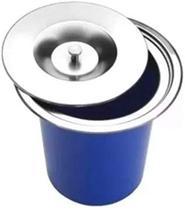 Lixeira de embutir plastica com tampa inox 4L - Gold