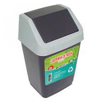 Lixeira de mesa discreta 2L para escritório e cozinha - basculante - 2 Litros - Arqplast