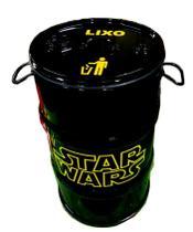 Lixeira de Tambor 80 Litros - Tema Star Wars - 43 vintage
