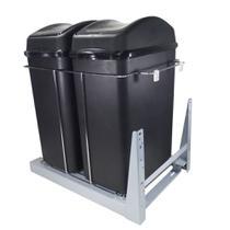 Lixeira Deslizante 40 Litros 8683 Dupla 345 x 500 x 460 mm - Jomer