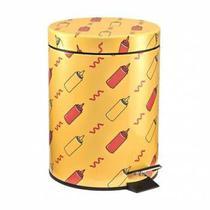 Lixeira Metálica Estampada Ketchup Mostarda 5L Mart -