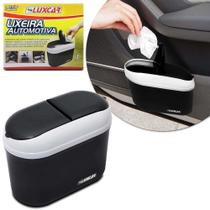 Lixeira para Carro Luxcar Universal Preto Cinza com Suporte -