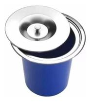 Lixeira Pia Cozinha Embutir 3 Litros Inox - Sollux
