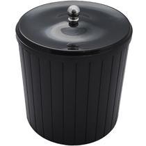 Lixeira Plástica 5l Com Tampa Higiênica Banheiro Cozinha Preta - Zanline