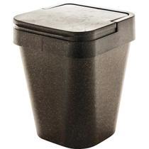 Lixeira Plástica Eco Sustentável 5 Litros Banheiro Cozinha Madeira - Ou