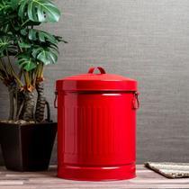 Lixeira Roma Vermelha 10 litros - Etna