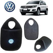 Lixeira VW Tiguan Preto Bordado - Gt