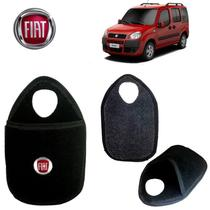Lixinho de Carro Fiat Doblo Preto Bordado - Gt