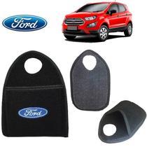 Lixinho de Carro Ford EcoSport Preto Bordado - Gt