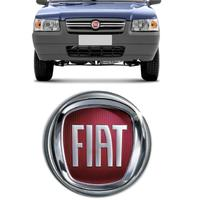 Logomarca da Grade do Fiat Uno Way 2012 - Ecp