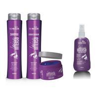 Loiro intenso kit shampoo condicionador máscara spray mahair -
