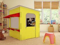 Lojinha Infantil Amarela e Vermelha  - iluminação em LED e Parede magnetizada - Maalu Decor - Ides