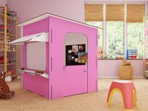 Lojinha Infantil Rosa e Branca  - iluminação em LED e Parede magnetizada - Maalu Decor - Ides