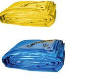 Lona Carreteiro Encerado Reforcada 5x 4 Mt ( Azul / Amarela) - Itape