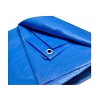 Lona Encerado 4x3 Uso Geral Camping, piscina, caminhão Azul - Starfer