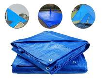 Lona Encerado Carreteiro Azul 70 Micras 5x4 Uso Geral Camping Piscina Caminhão Azul ImportWay -