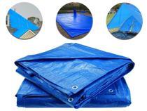 Lona Encerado Carreteiro Azul 75 Micras 4x3 Uso Geral Camping Piscina Caminhão Azul Starfer -